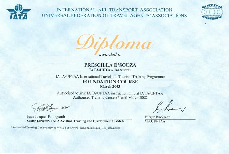 INSTITUTE OF AIRLINES & TRAVEL AGENCIES ::